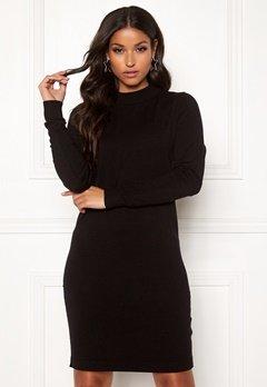 OBJECT Thess L/S Knit Dress Black Bubbleroom.dk