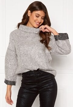 OBJECT Trina Sweat Pullover Light Grey Melange Bubbleroom.dk