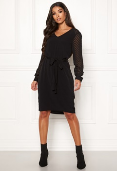 OBJECT Zoe L/S Dress Black Bubbleroom.dk