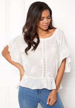 Odd Molly Clever Heart Blouse Offwhite Bubbleroom.dk