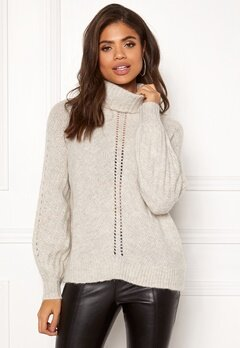 Odd Molly High Heart Turtleneck Chalk Bubbleroom.dk