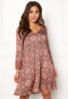 Odd Molly Honey-Coated Dress Light Mahogny Bubbleroom.dk