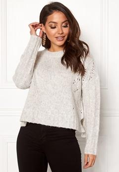 Odd Molly Upbeat Sweater Light Grey Melange Bubbleroom.dk