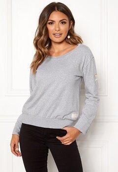 Odd Molly What's Up Sweater Light Grey Melange Bubbleroom.dk