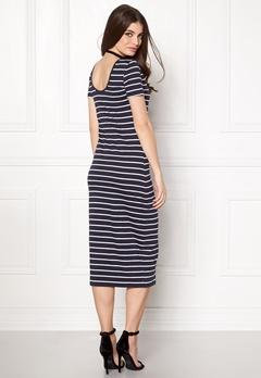 ONLY Abbie Stripe Calf Dress Night Sky Stripe Bubbleroom.dk