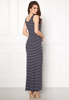 ONLY Abbie Stripe Long Dress Night Sky Stripe Bubbleroom.dk