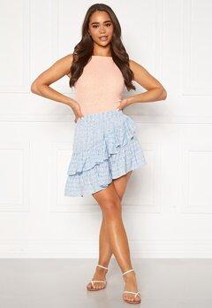 ONLY Addie Short Skirt Cashmere Blue Bubbleroom.dk