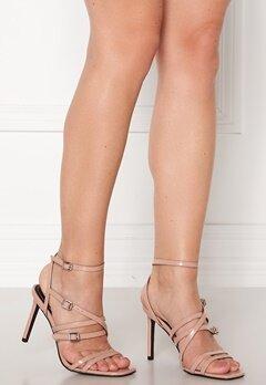 ONLY Alyx PU Heeled Sandal Nude Bubbleroom.dk