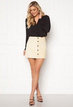 ONLY Amazing HW Corduroy Skirt Whitecap Gray Bubbleroom.dk