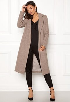 ONLY Amy Sharon Wool Coat Simply Taupe Bubbleroom.dk