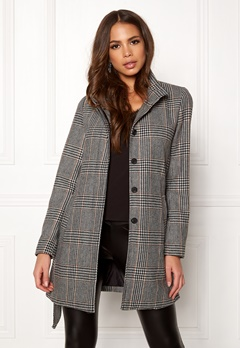 ONLY Ashley Check Wool Coat Black Bubbleroom.dk