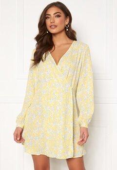 ONLY Augie LS Short Dress Dusky Citron Bubbleroom.dk