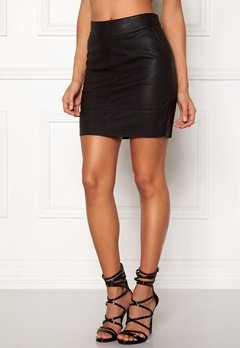 ONLY Base Faux Leather Skirt Black Bubbleroom.dk