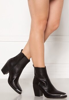 ONLY Belize PU Heeled Boot Black Bubbleroom.dk