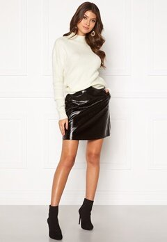ONLY Bella Faux Leather Skirt Black Bubbleroom.dk