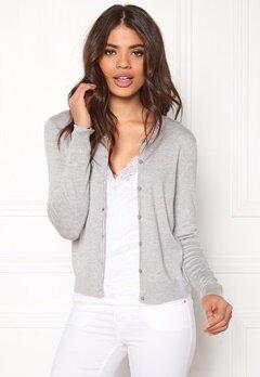 ONLY Bella l/s Button Cardigan Light Grey Melange Bubbleroom.dk