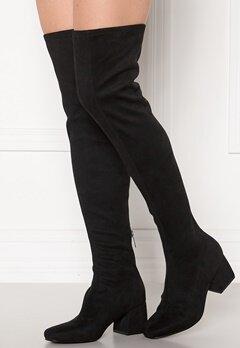 ONLY Billie Long Heeled Boot Black Bubbleroom.dk
