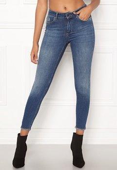 ONLY Blush Mid Ank Raw Jeans Dark Blue Denim Bubbleroom.dk