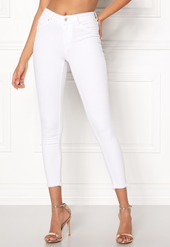 ONLY Blush Mid Ankle Jeans White Bubbleroom.dk