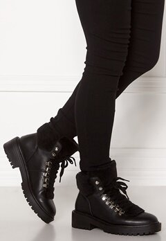 ONLY Bold PU Fur Winter Boot Black Bubbleroom.dk