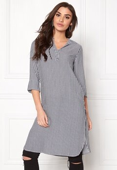 ONLY Capri Long Shirt Stripe Cloud Dancer Bubbleroom.dk