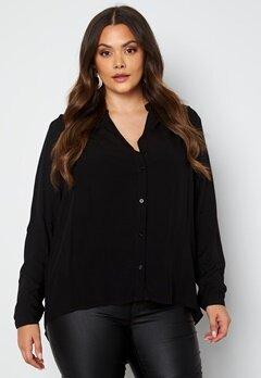 Only Carmakoma Anita LS Shirt Black bubbleroom.dk