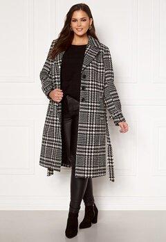 Only Carmakoma Fandanga LS Long Coat Black, AOP Bubbleroom.dk