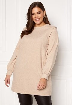 Only Carmakoma Louse LS Tunic Sweat Cement Bubbleroom.dk