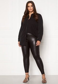Only Carmakoma Rool Coated Legging Black Bubbleroom.dk