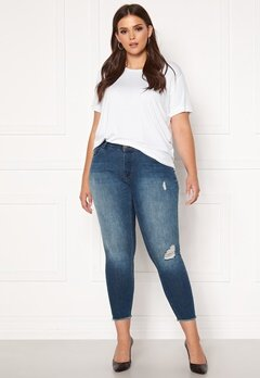 Only Carmakoma Willy Reg Skinny Ank Jeans MBD Medium Blue Denim Bubbleroom.dk