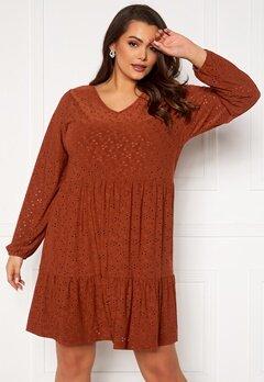 Only Carmakoma Zabby LS Knee Dress Arabian Spice Bubbleroom.dk