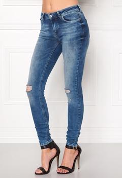 ONLY Carmen Reg Jeans Medium Blue Denim Bubbleroom.dk