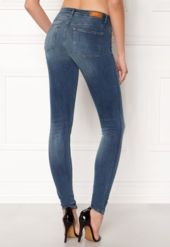 ONLY Carmen Reg Skinny Jeans Medium Blue Denim Bubbleroom.dk