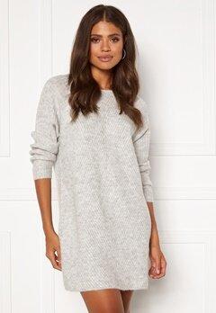 ONLY Carol L/S Dress Knit Light Grey Melange Bubbleroom.dk
