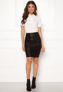ONLY Celina Faux Leather Skirt Black Bubbleroom.dk