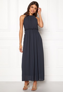 ONLY Ceremony Long Dress Dark Navy Bubbleroom.dk