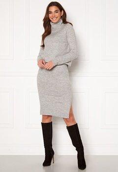 ONLY Cille Skirt Ex Knit Ligth Grey Melange Bubbleroom.dk