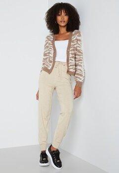 ONLY Cozy Slim Pants Knit Pumice Stone bubbleroom.dk