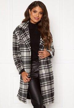 ONLY Dajana Check Wool Coat OTW Black Bubbleroom.dk