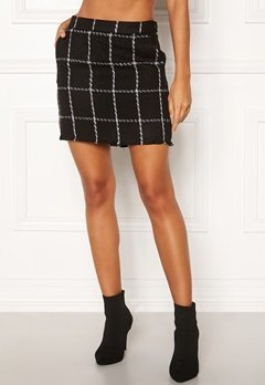 ONLY Dare Check Mini Skirt Black/Check Bubbleroom.dk