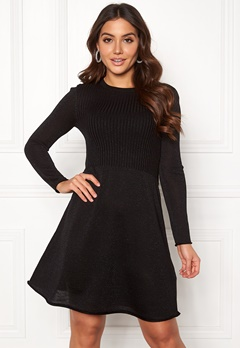 ONLY Darling L/S Dress Black Bubbleroom.dk