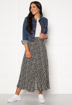 ONLY Davie Midi Skirt Black Bubbleroom.dk