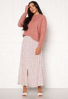 ONLY Davie Midi Skirt Cloud Dancer Bubbleroom.dk