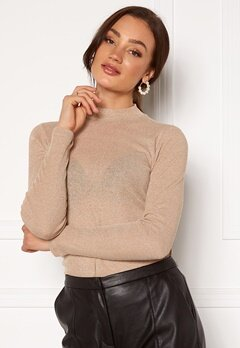 ONLY Diana Lurex L/S Top Frosted Almond Bubbleroom.dk