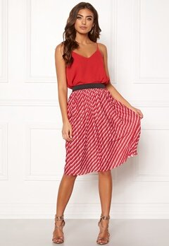 ONLY Disco Skirt High Risk Red Bubbleroom.dk