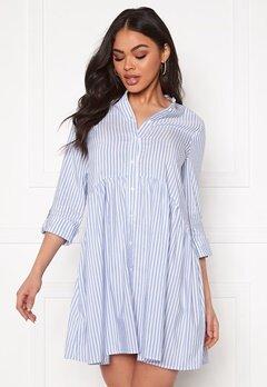 ONLY Ditte Fold Up 3/4 Stripe Dress Cloud Dancer/Stripes Bubbleroom.dk