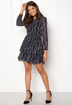 ONLY Ditte L/S Layred Dress Night Sky Bubbleroom.dk