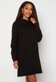 ONLY Dreamer Life Sweat Hood Dress Black Bubbleroom.dk