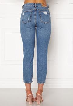 ONLY Emily HW  Crop Jeans Medium Blue Denim Bubbleroom.dk