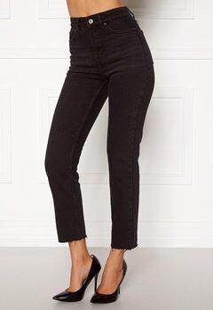 ONLY Emily HW Raw Ank Jeans Black Denim Bubbleroom.dk